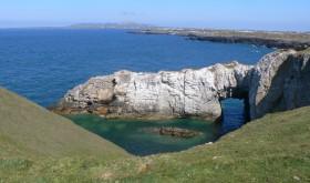White Arch, Rhoscolyn cliffs walk